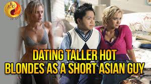 Asian man blonde girl