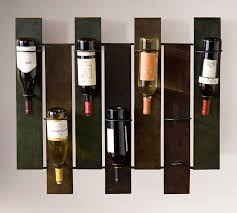 modern wine rack wall with durable iron construction  home