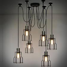6 Lights Loft Vintage industrial Spider Arms Pendant Light Dining