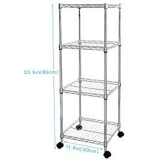 shelving unit on wheels 4 tiers wire adjule square storage corner rack for living ikea casters shelving unit on wheels