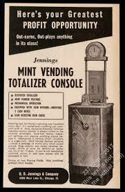 Mint Vending Machine Gorgeous 48 Jennings Mint Vending Totalizer Console Slot Machine Photo
