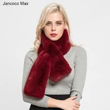 Jancoco Max <b>2019 Top</b> Quality Faux Fur <b>Scarf Women's</b> Fashion ...