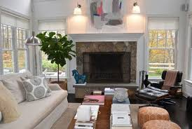 Neutral furniture Bedroom Dark Living Room With Leather Furniture And Large Fireplace Good Housekeeping Neutral Living Rooms Decorating With Neutrals