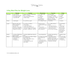 Weight Loss Menu Planner Template 015 Free Weight Loss Meal Plans 368022 Template Ideas Sample