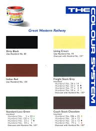 Railmatch Paints Colour Chart Gwr Colors Modelling Questions Help And Tips Rmweb