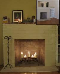 fireplace before after candelabra and candles are from target grate and tool holder found in the backyard from previous owners