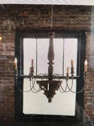 6 light vintage french country chandelier new
