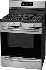 frigidaire gallery 5 0 cu ft self cleaning freestanding gas convection range black fggf3047tf best