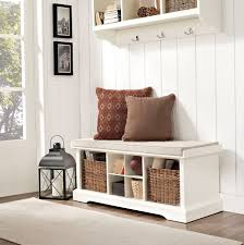 Entryway Storage Bench Coat Rack Fabulous Entryway Floating Coat Rack White Laminate Finish Three for 33