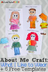 Free Templates For Kids About Me What I Like To Wear Craft And Free Template For Back To