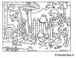 Kleurplaat Kinderboerderij Kleuterideenl Farm Mandalas