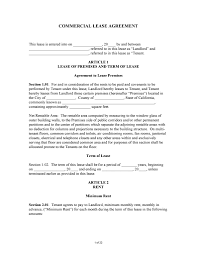 Free California Commercial Lease Agreement | Pdf | Word | Do It ...