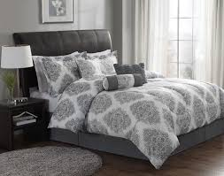 awesome contemporary gray and white queen comforter set with black fl gray bedding set prepare