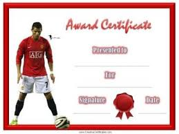 soccer awards templates soccer award certificate templates editable soccer award