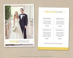 Photography Pricing Template Photography Pricing Template Price List Wedding Pricing Guide