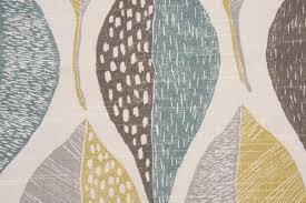 robert allen woodblock leaf printed cotton dry fabric in rain 15 95 per yard