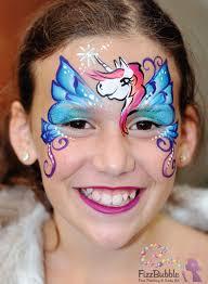 fizzbubble face painting unicorn pegasus blue
