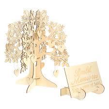 3d wedding guest book tree wedding guest signature book wooden hearts pendant drop ornaments for wedding party decor supplies
