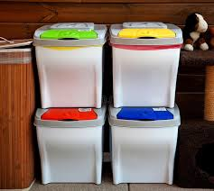 Recycle Bins For Home Simple Four Recycle Bin Stock Image Image Of House Trash Wood 32