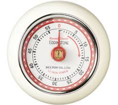 eddingtons retro magnetic kitchen timer ivory