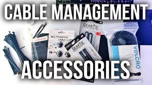 desk setup cable management accessories