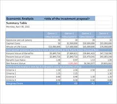 23 Cost Benefit Analysis Template Example And Definition