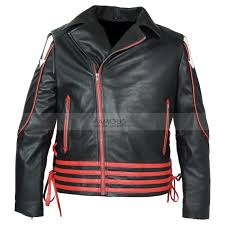 fred mercury red and black leather jacket