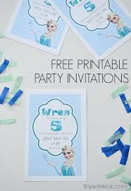 make your own frozen invitations frozen birthday party invitations diy frozen birthday invitations