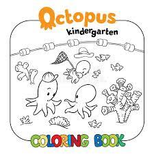 octopus kindergarten coloring book stock vector ilration of nursery pencil 64572803