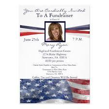 Political Fundraising Invitations Political Fundraiser Invitation With Photo Zazzle Com