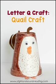 Letter Q Craft: Quail Craft