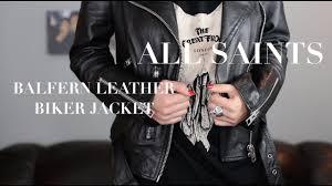 fashion allsaints black balfern biker leather jacket review louise lee