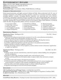 Government Resume Sample