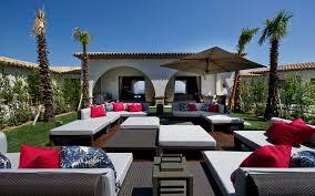 Outdoor Lounge Sunlit Outdoor Lounge Interior Design Ideas