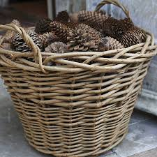 wicker log basket by brush64 | notonthehighstreet.com