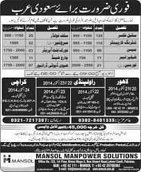 overseas jobs in saudi arabia for gulf ads of news paper overseas jobs in saudi arabia for gulf