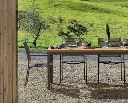 scandinavian outdoor furniture. scandinavian designs our rustic chic sila dining table features an fsc reclaimed teak top with frosted taupe aluminum frame outdoor furniture