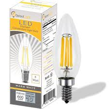 candelabra led bulbs 6 pack bullet tip 6w img1