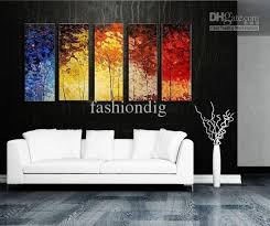 modern office wall art. stretched abstract landscape knife oil painting canvas ready to hang thick artwork handmade modern home office hotel wall art decor gift d