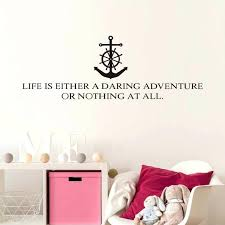 wall decals letters free letters life is either a daring adventure wall decals vinyl art wall decals letters