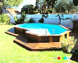 Above ground pool with deck attached to house 24 Foot Pool Carinsurance1dayinfo Pool Deck Designs Pool Deck Ideas Above Ground Legacybarncoinfo