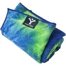 yoga mate soft sweat absorbent non slip bikram yoga hand size towel