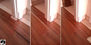 how to lay laminate in a doorway