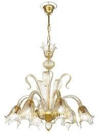 silvia rossini fl chandelier lighting murano glass e14 28 w gold