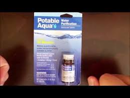 iodine water purification tablets