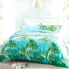 forest green ocean blue and aqua palm tree print nautical tropicalpalm duvet cover set forest green