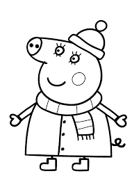 Excellent Qxsfx With Peppa Pig Coloring Pages On Hd