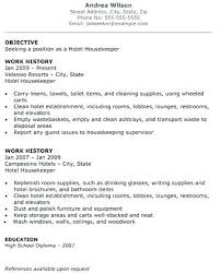Housekeeping Job Resume Best Of Housekeeper Resumes Hotel Housekeeper Resumes Executive Housekeeper