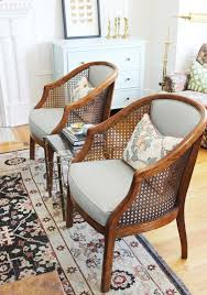 tan french louis chair louis xvi style chair barrel back chair i was browsing craigslist one afternoon when i saw a listing for a pair of vintage cane
