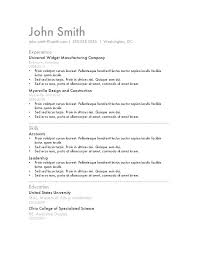Easy Resume Templates Adorable Simple Job Resume Template Homefit